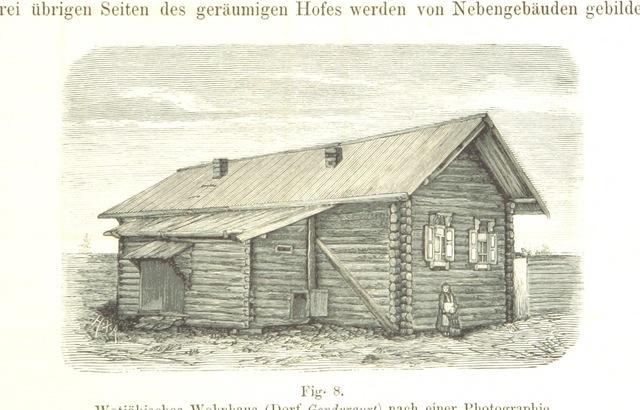 """architecture from """"Die Wotjäken, eine ethnologische Studie ... Separatabdruck aus """"Acta Soc. Scient. Fenn."""""""""""
