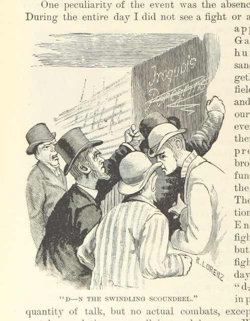 """Crowd from """"Nasby in Exile: or, six months of travel in England, ... France, Germany ... Illustrated"""""""