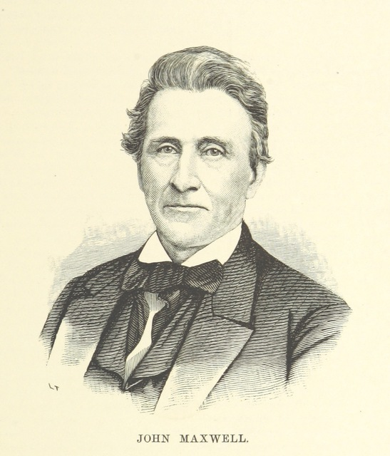 """John Maxwell from """"History of Washington County, Pennsylvania, with biographical sketches of many of its pioneers and prominent men ... Illustrated. [With a map.]"""""""