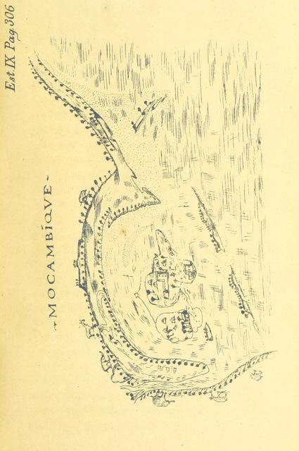 """map from """"Roteiro de Lisboa a Goa ... Annotado por J. de Andrade Corvo"""""""
