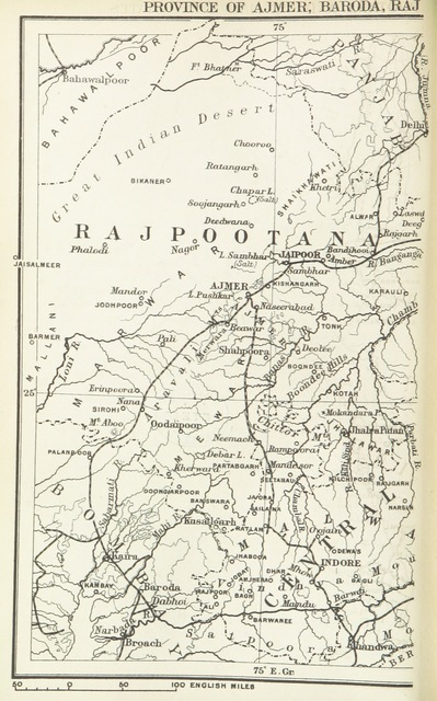 """map from """"The Student's Geography of India. The Geography of British India, political & physical ... with maps"""""""
