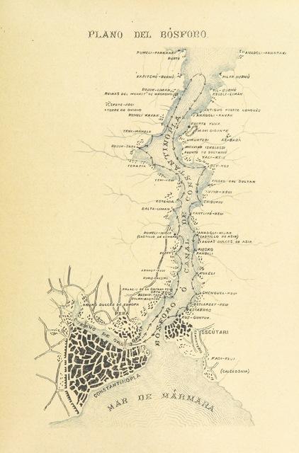 """map from """"Viaje á Egipto, Palestina y otros países del Oriente"""""""
