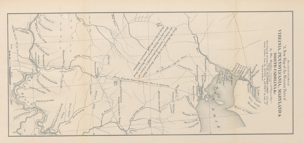 """Maps from """"Washington-Irvine Correspondence. The official letters which passed between Washington and Brig.-Gen. William Irvine and between Irvine and others concerning military affairs in the West from 1781 to 1783. Arranged and annotated with an introduction ... by C. W. Butterfield. [With portraits and a map.]"""""""