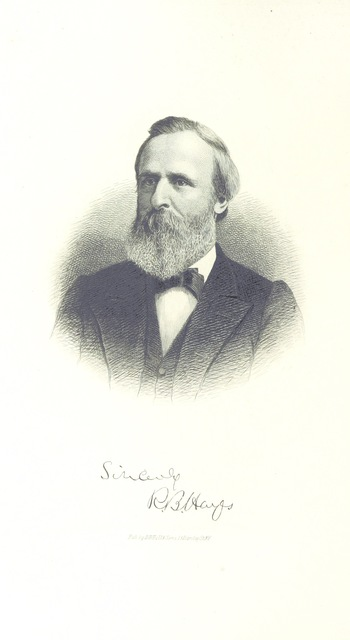"""portrait from """"The Household Guide and Instructor. With biographies of the Presidents of the United States, and a ... history of Guernsey County, Ohio. [By C. S. Percival and others.] With illustrations"""""""