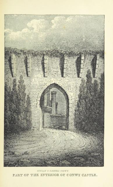 """Architecture from """"Teithiau yn Nghymru; ref, Cyfieithiad o'r """"Tours in Wales"""" ... Ynghyda chyfieithiad o'r nodiadau a'r rhagymadrodd, yn yr argraffiad Seisoneg diweddaf. Gan ... John Rhys ... Hefyd, nodiadau, hanes bywyd yr awdwr, a rhagarweiniad i hanes y llwythau gan W. Trevor Parkins. [With plates, including a portrait.]"""""""