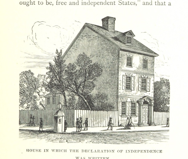 """Declaration House from """"A history of the American People ... With illustrations"""""""