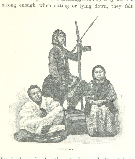 """Evenks from """"Ice-Pack and Tundra: an account of the search for the Jeannette and a sledge journey through Siberia ... With maps and illustrations"""""""