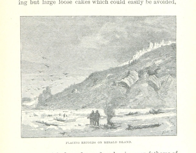 """Herald Island from """"Ice-Pack and Tundra: an account of the search for the Jeannette and a sledge journey through Siberia ... With maps and illustrations"""""""
