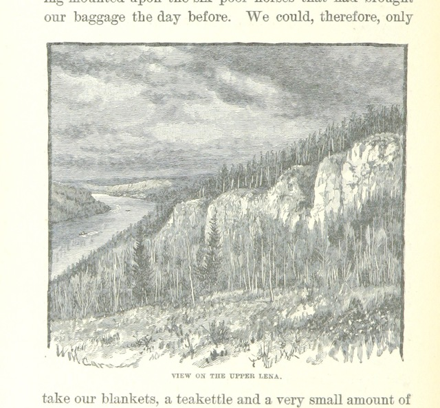 """Lena River from """"Ice-Pack and Tundra: an account of the search for the Jeannette and a sledge journey through Siberia ... With maps and illustrations"""""""