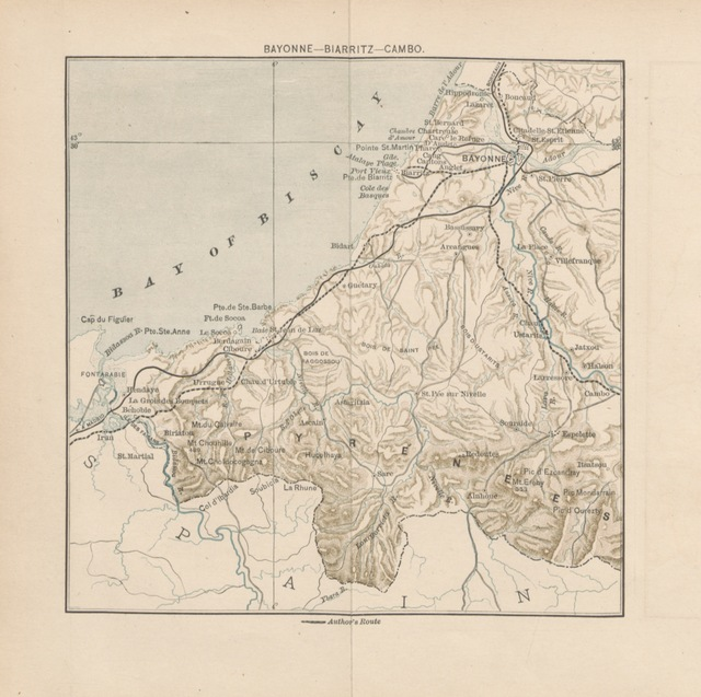 "map from ""In the shadow of the Pyrenees from Basque-Land to Carcassonne ... With etchings, etc"""