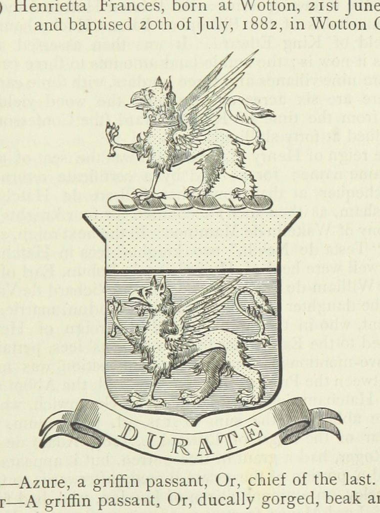 """coat of arms from """"[The History of Deptford, in the counties of Kent and Surrey, compiled from authentic records.]"""""""