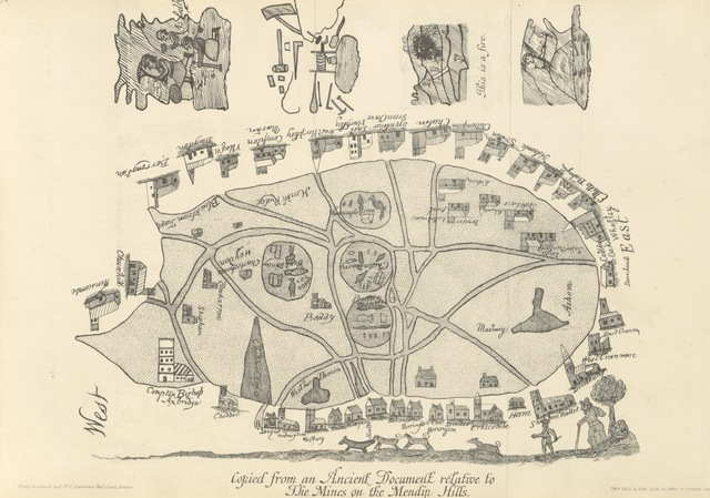 """map from """"British Mining. A treatise on the history ... and future prospect of metalliferous mines in the United Kingdom ... With ... illustrations"""""""