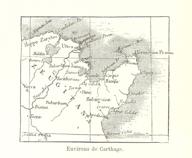 "map from ""La Tunisie. Son passé et son avenir. [With illustrations.]"""
