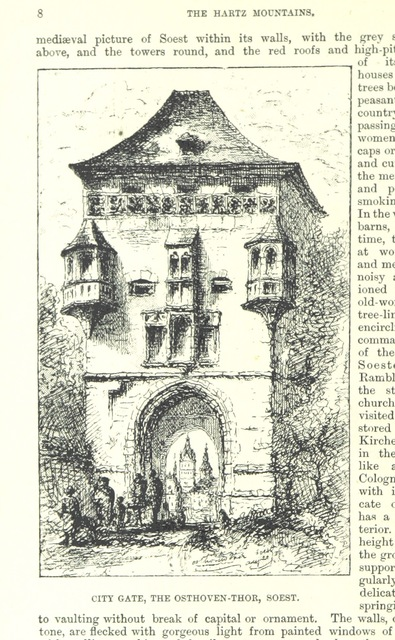 "city gate from ""Holiday Handbooks. Practical guides to less frequented districts. Edited by P. L"""
