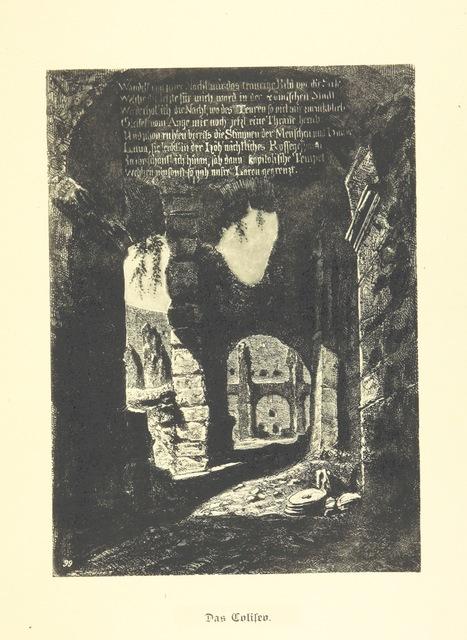 """Colosseum from """"Goethe's Italienische Reise. Mit 318 Illustrationen ... von J. von Kahle. Eingeleitet von ... H. Düntzer"""""""