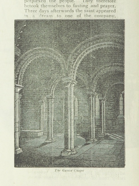 """Galilee Chapel from """"Durham. [An illustrated history of the city.] pp. 16. Reprinted from """"The Hull Quarterly and East Riding Portfolio."""""""""""