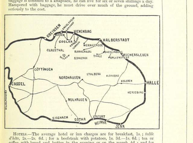 "map from ""Holiday Handbooks. Practical guides to less frequented districts. Edited by P. L"""