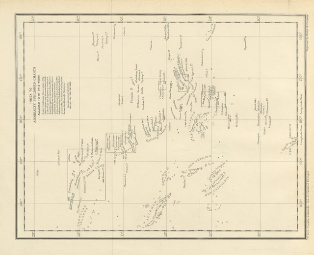 """map from """"Pacific Islands ... Sailing Directions ... Compiled from various sources (by G. E. Richards)"""""""