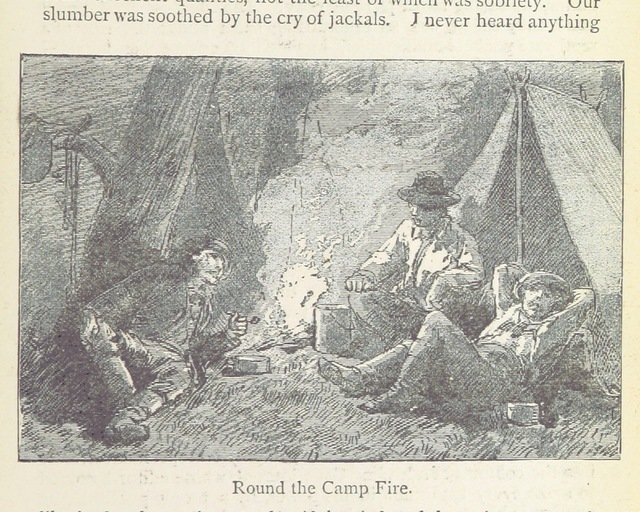 """Roud the Campfire from """"With a Show through Southern Africa ... Second edition. Popular edition"""""""