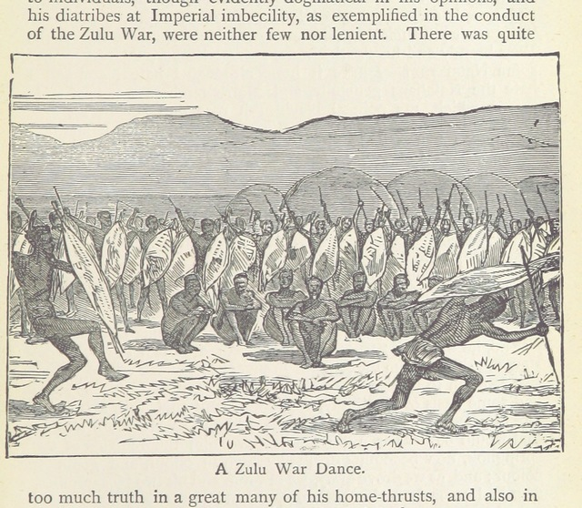 """war dance from """"With a Show through Southern Africa ... Second edition. Popular edition"""""""
