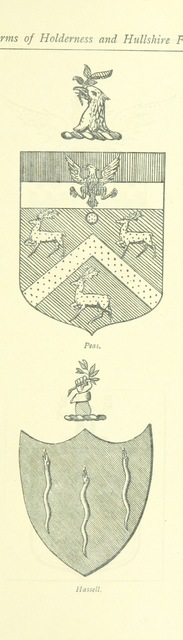 """coat of arms from """"Holderness and Hullshire Historic Gleanings, a portfolio of pictures, poetry and prose"""""""