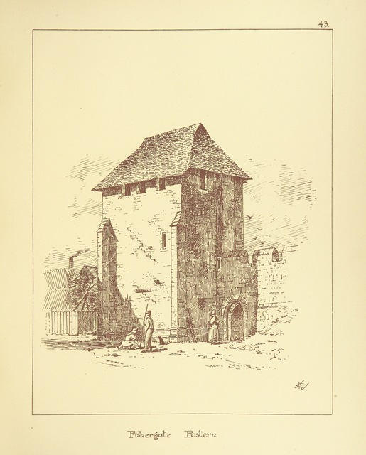 """Fishergate from """"Picturesque York. [With illustrations.]"""""""