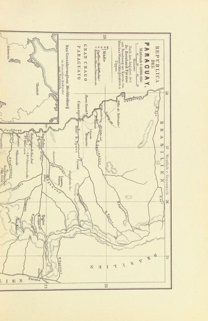 """map from """"Deutsche Colonien in dem oberen Laptata-Gebiete mit besonderer Berücksichtigung von Paraguay ... Zweite Auflage"""""""
