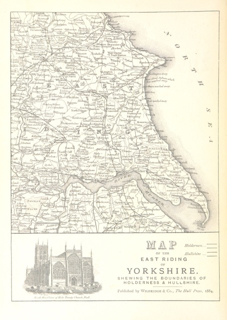 """map from """"Holderness and Hullshire Historic Gleanings, a portfolio of pictures, poetry and prose"""""""