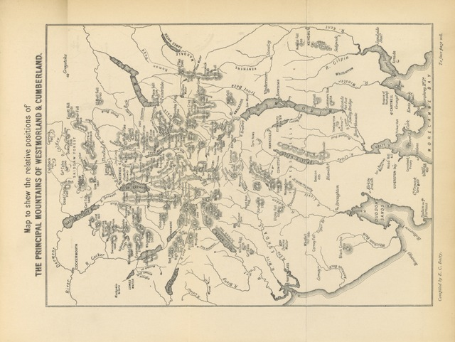 """map from """"Mountain Ascents in Westmoreland and Cumberland"""""""