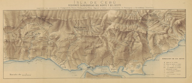 """map from """"Rápida descripción física, geológica y minera de la isla de Cebú, etc. [With maps.]"""""""