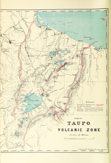 """map from """"The Eruption of Tarawera: a report to the Surveyor General. [With illustrations.]"""""""
