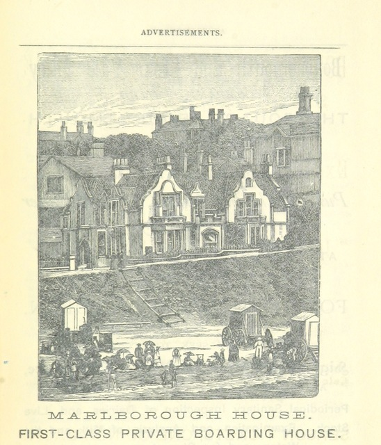 "Marlborough House, First Class Private Boarding House from ""[A Descriptive Guide to Bournemouth, Christchurch, Wimborne and Corfe Castle ... Illustrated with map and photographs.]"""