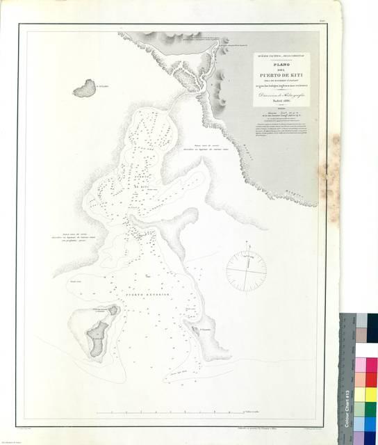 Plano del Puerto de Kiti : (Isla de Bonebey o Panapi) [Mapa]
