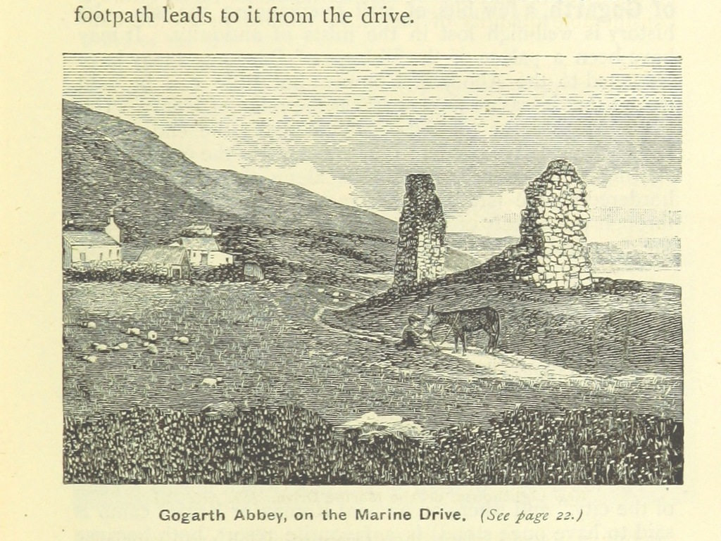 "ruins from ""J. Heywood's illustrated Guide to Llandudno and neighbourhood"""