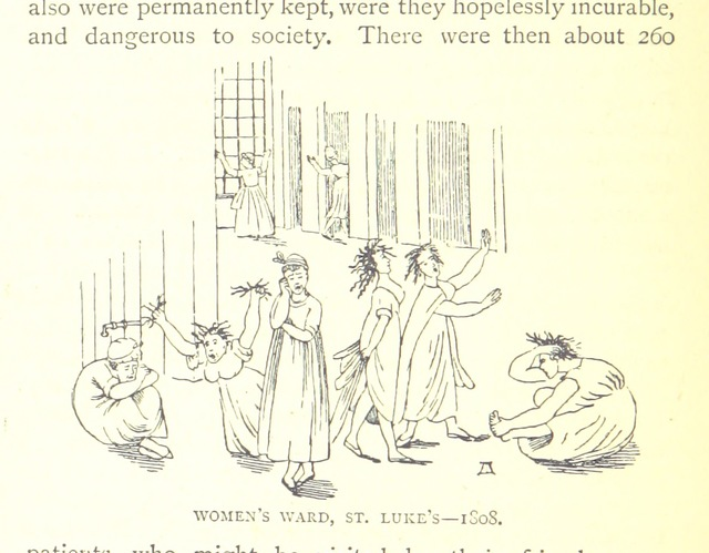 """women's ward from """"[The Dawn of the XIXth Century in England. A social sketch of the times ... With ... illustrations, etc.]"""""""