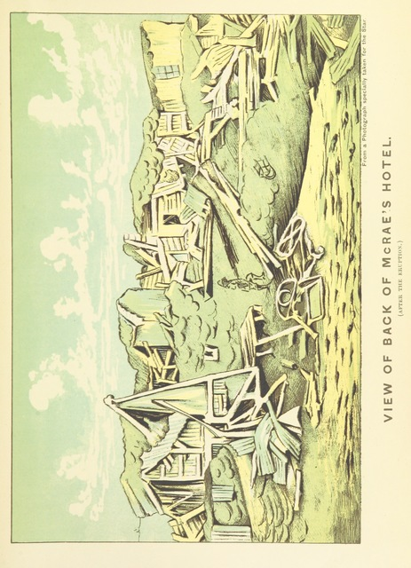 """1886 from """"A Weird Region. New Zealand lakes, terraces, geysers and volcanoes. [Illustrated.]"""""""