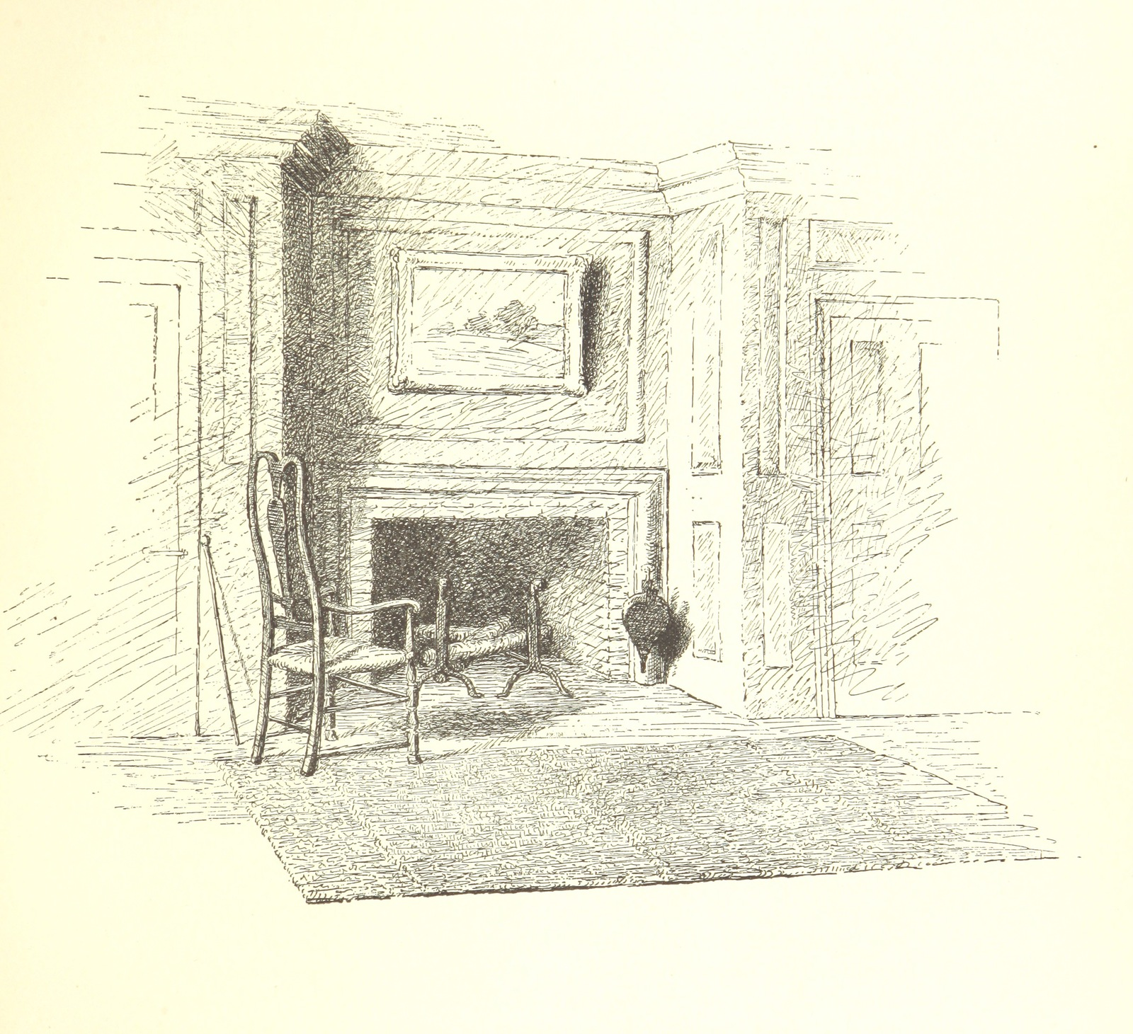 """andirons from """"Story of the old Willard House of Deerfield, Mass., etc. [Illustrated.]"""""""