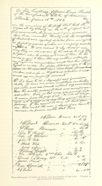 "manuscript from ""[Daring and Suffering: a history of the Great Railroad Adventure [i.e. the Andrews Railroad Raid.] ... With an introduction, by ... A. Clark.]"""