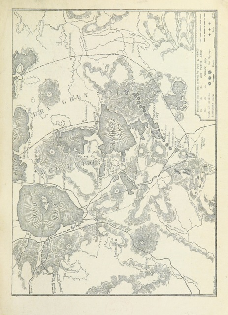 """map from """"A Weird Region. New Zealand lakes, terraces, geysers and volcanoes. [Illustrated.]"""""""