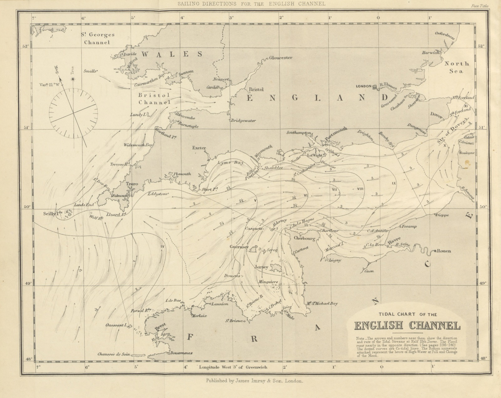 Map Of France North Coast.Map From Sailing Directions For The English Channel Part I The