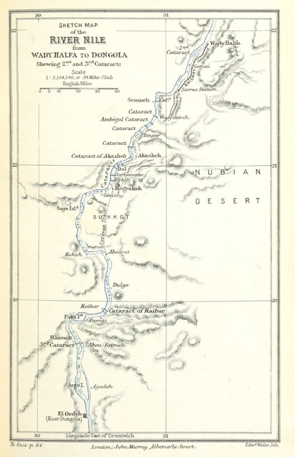 """map from """"Too Late for Gordon and Khartoum: the testimony of an ... eye-witness of the ... efforts for their rescue ... With ... unpublished letters of the late General Gordon"""""""