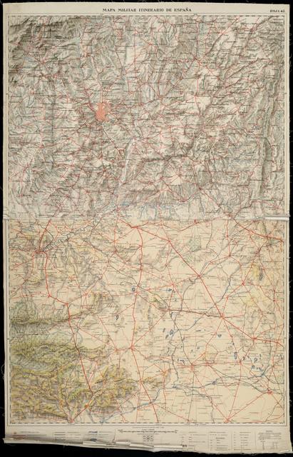 Mapa militar itinerario del Distrito Militar de Castilla la Nueva En escala de 1:200000