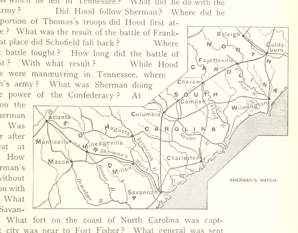 "American Civil War from ""A history of the United States and its people, for the use of Schools"""