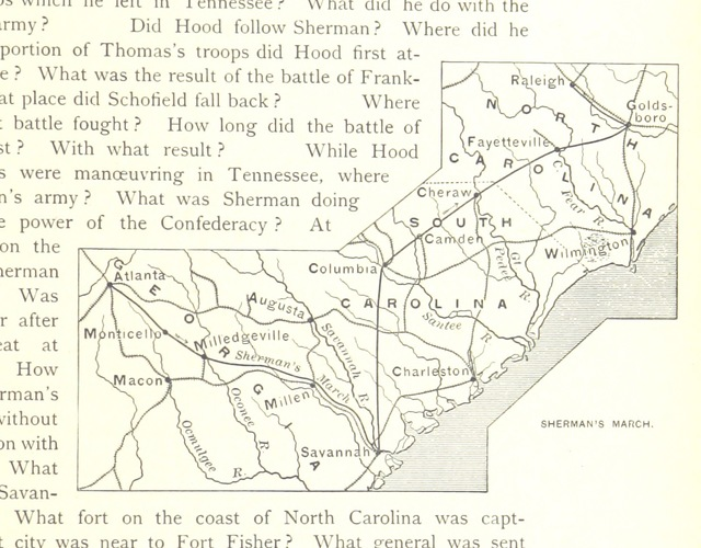 """American Civil War from """"A history of the United States and its people, for the use of Schools"""""""