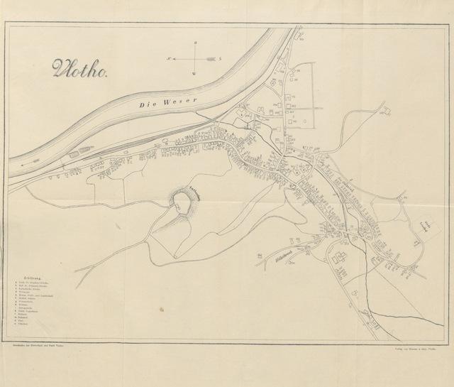"""map from """"Geschichte der Herrschaft und Stadt Vlotho nebst Chronik der Schule daselbst ... Mit dem Wappen, einer Ansicht und einer genauen Situationskarte von Vlotho"""""""
