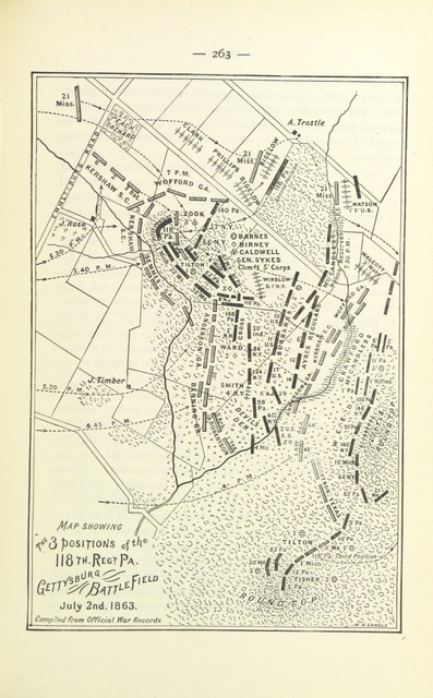 """map from """"History of the Corn Exchange Regiment, 118th Pennsylvania Volunteers from their first engagement at Antietam to Appomattox. To which is added a record of its organization and a complete roster ... Illustrated with maps, portraits, and ... illustrations. By the Survivors' Association, etc"""""""