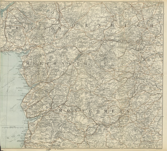 "map from ""The Vale of Llangollen, and the course of the Dee ... With contributions from distinguished writers. Map by Bartholemew [sic]. 30 illustrations"""