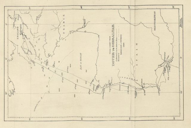 """map from """"To Gibraltar and back in an eighteen-tonner. By One of the Crew. With chart, illustrations, etc"""""""