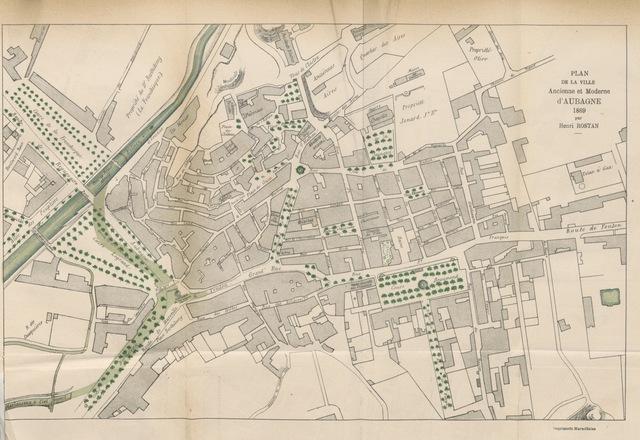 """map from """"Histoire d'Aubagne, chef-lieu de Baronnie, depuis son origine jusqu'en 1789"""""""