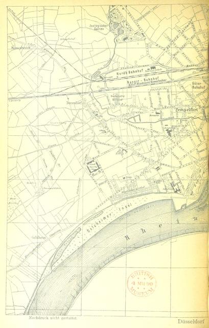 """map from """"Historische Wanderung durch die alte Stadt Düsseldorf"""""""